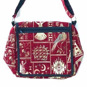 Bohemian hippie red gold bag Cappadocia Turkey